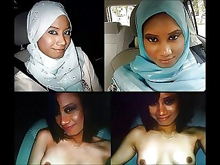 Various Turkish, Arabic and Asian girls in hijab