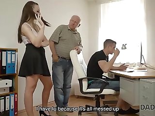 daddy4k. boyfriend caught girl having old and young sex with