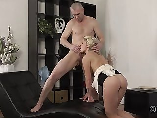 old4k. hot sex of old and young lovers finishes with great