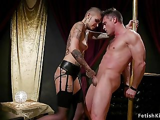 Alt domme sodomized fucks tied up guy