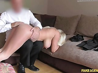 UK agent nailing blonde busty British whore Michelle Thorne