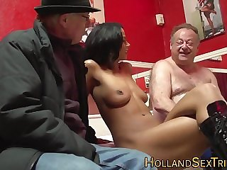 Obese grandpa takes a visit to the whore