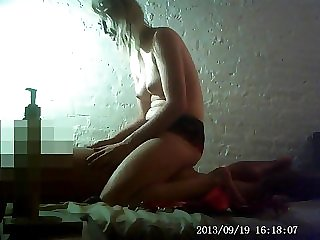 Blond Hair Babe Masseuse Happy End - massage