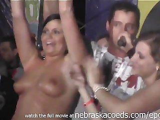 Crazy wife shows her boobs on the stage