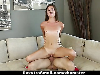 ExxxtraSmall - Sexy Petite Teens Fucks Dad's Friend